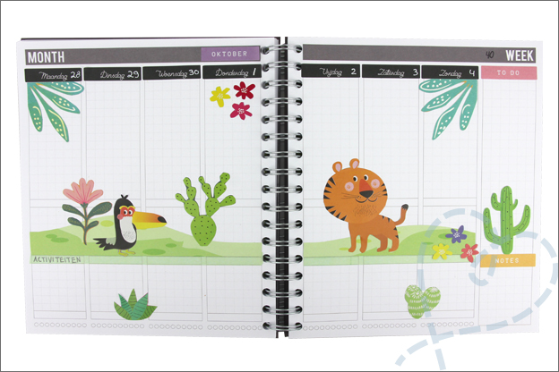 Agenda versieren jungle dieren stickers action