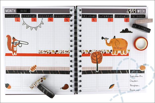 Agenda versieren wk45 thema herfst dieren Action decotime