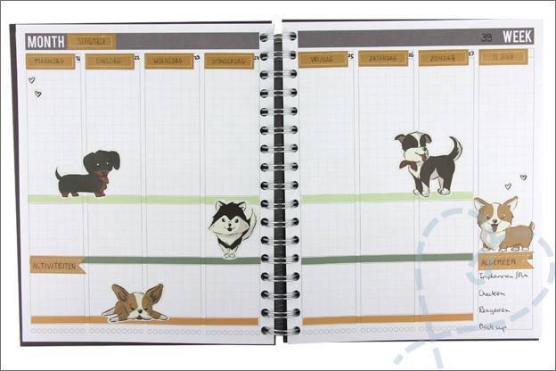 Creachick stickers honden planner agenda