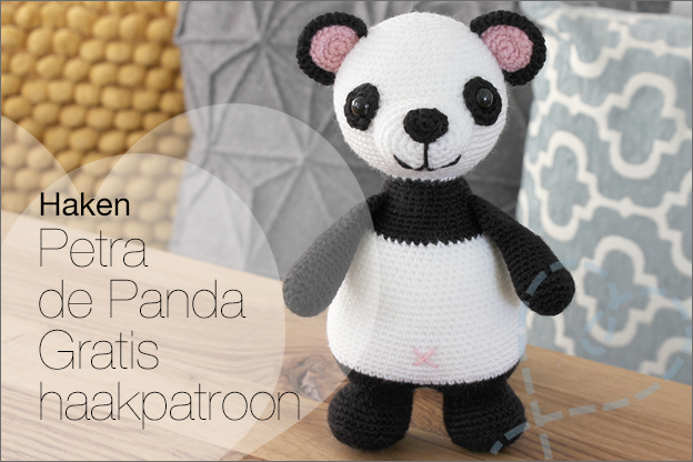 Haken Petra de Panda beer gratis haakpatroon