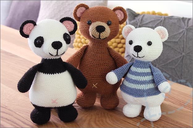 Haken ijsbeer beer panda Gratis haakpatroon knuffel