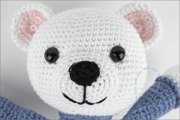 Haken ijsbeer hoofd oren