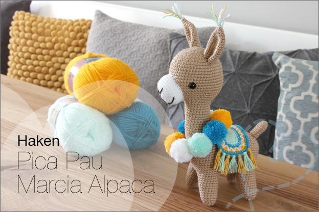 Haken marcia alpaca haakpatroon pica pau