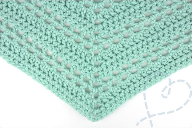 Haken omslagdoek makkelijk patroon