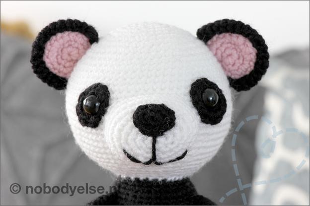 Haken panda gratis haakpatroon hoofd