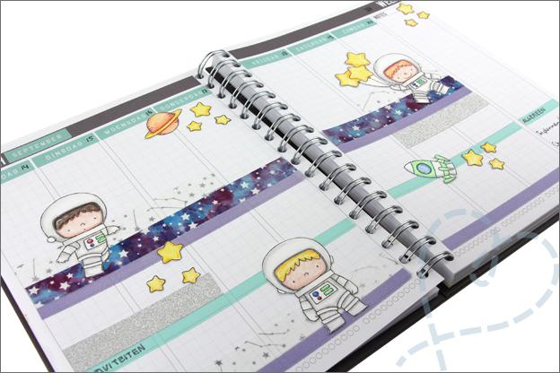 Inspiratie Agenda versieren stempels clear stamps