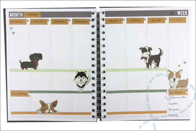 Mascha planner versieren Creachick stickers honden