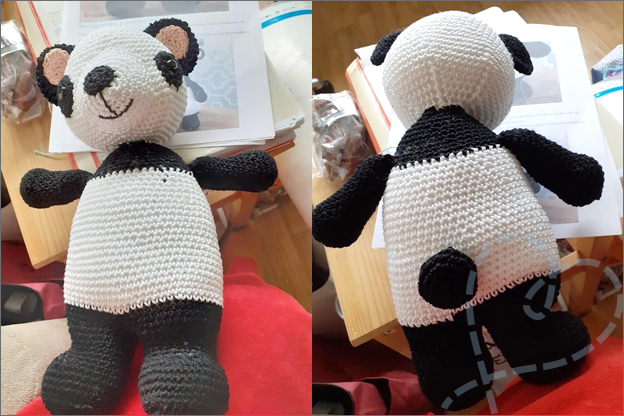 Haakpatroon Panda Petra gratis