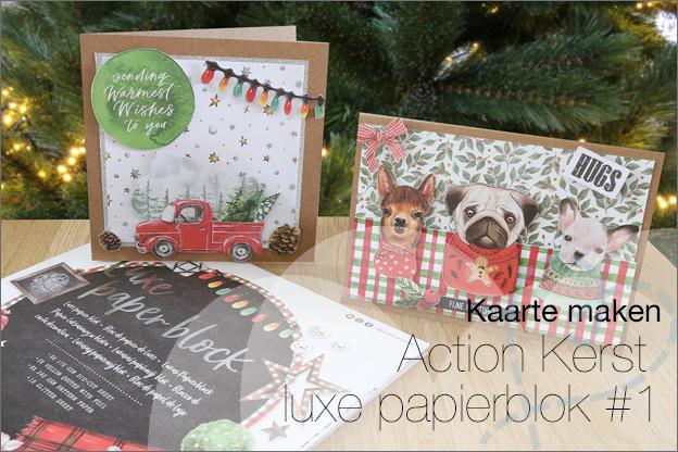Action Decotime luxe papierblok kerst voorbeelden inspiratie