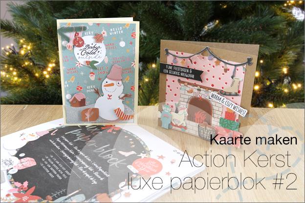 Action Decotime luxe papierblok kerstkaarten voorbeelden