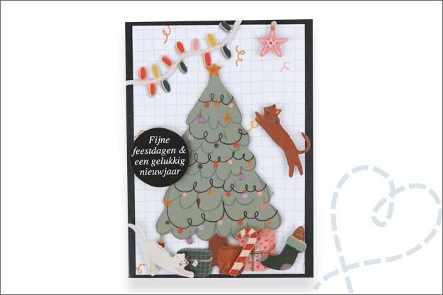 Action luxe papierblok kerst kerstboom