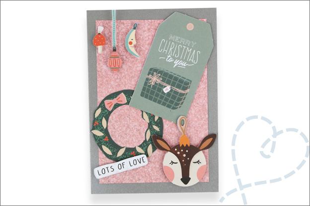 Action luxe papierblok kerst moderne kerstkaarten