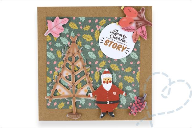Action luxe papierblok kerst zelfgemaakt