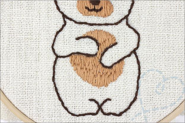 Borduren beer buik lichaam