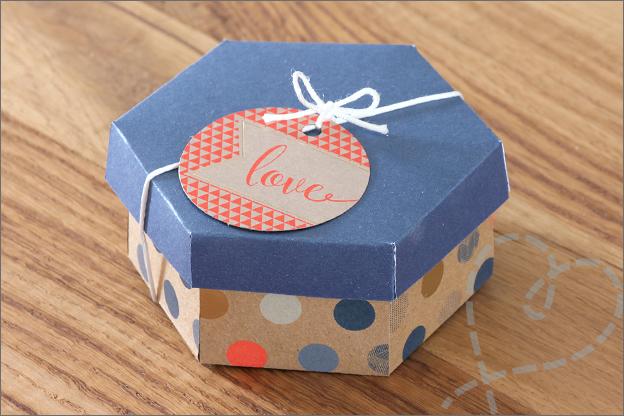 Cadeaudoosje zelf maken printable zeshoek