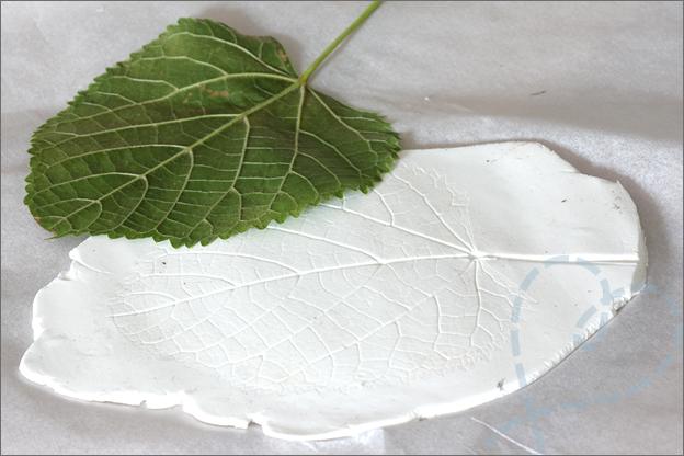 DIY herfst schaal bladeren