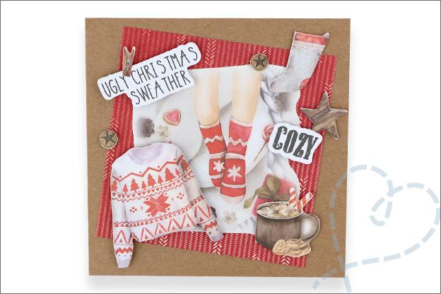 Decotime luxe papierblok kerst foute kerstkaart