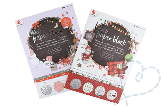 Decotime luxe papierblok kerst kaarten Action