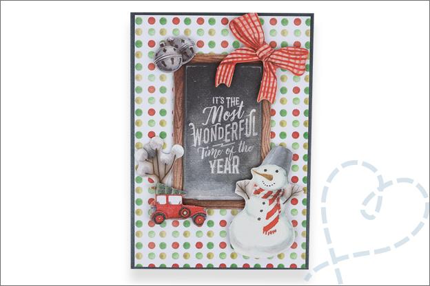 Decotime luxe papierblok kerst kaarten inspiratie