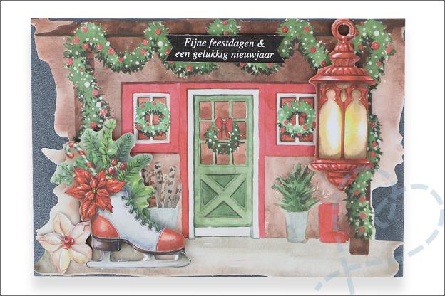 Decotime luxe papierblok kerst kaarten maken voorbeelden