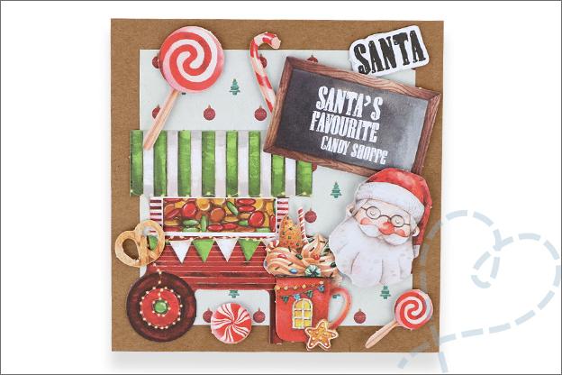Decotime luxe papierblok kerst kerstman