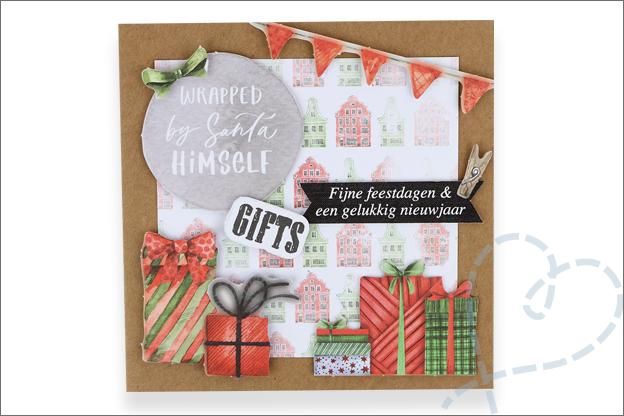 Decotime luxe papierblok kerstkaart cadeautjes