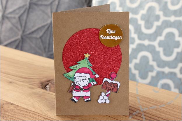 Gratis printable kerstkaart maken nederlands