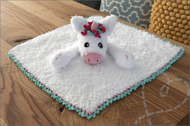 Haken eenhoorn knuffel deken kruidvat