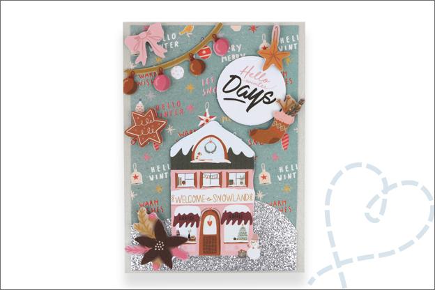 Kerstkaart huisjes action goedkoop