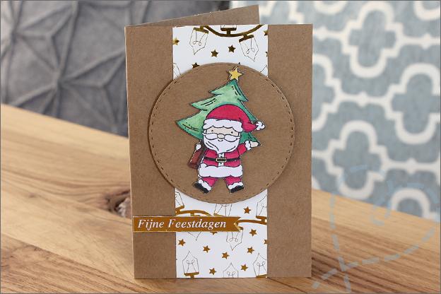 Kerstkaart maken labels nederlands