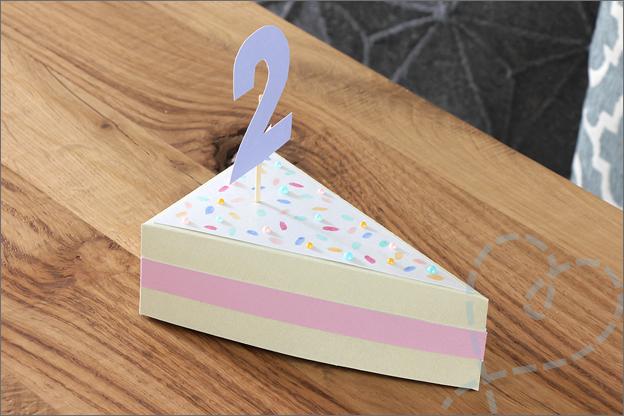 Knutselen cadeaudoosje taart vorm gratis