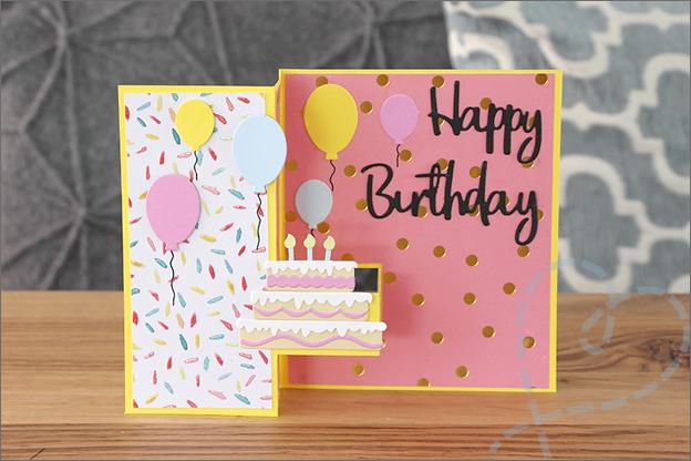 Staande vouwkaart verjaardagskaart Action