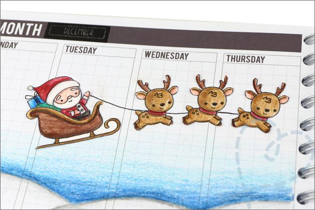 Agenda versieren thema kerst kleurpotloden