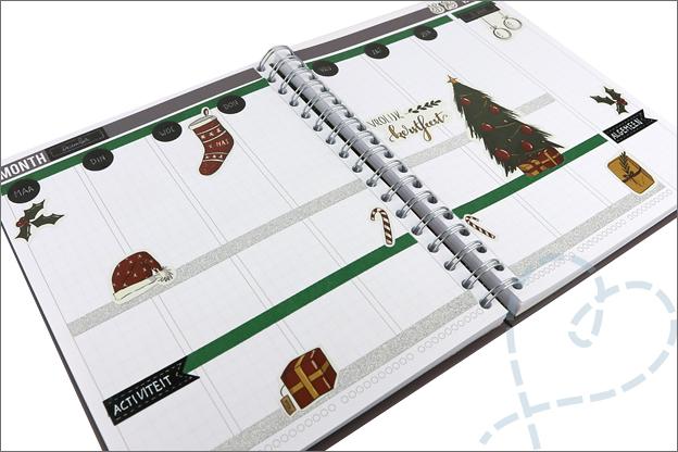 Agenda versieren thema kerst stickers creaChick