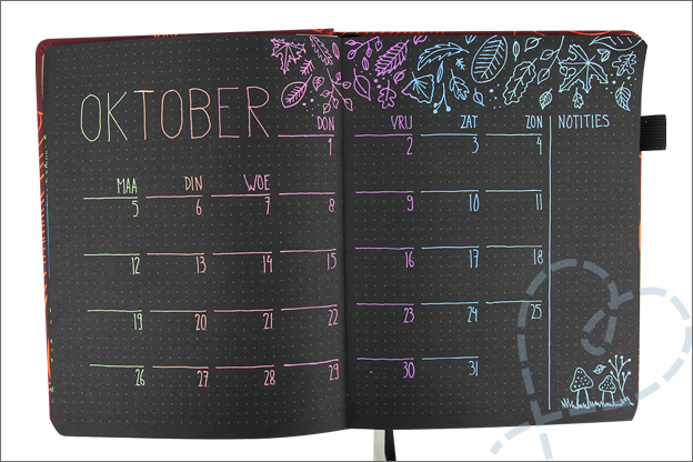Black journal maand oktober thema herfst