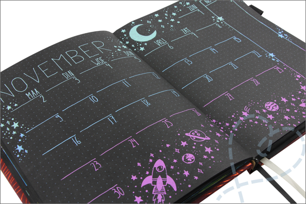 Bullet journal inspiratie thema november gelpennen