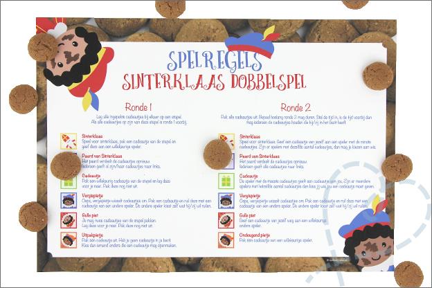 DIY Sinerklaas dobbelSpel gratis printable spelregels
