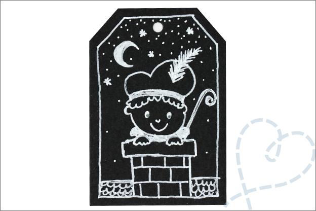 DIY cadeaukaartje Sinterklaas zwarte piet inspiratie