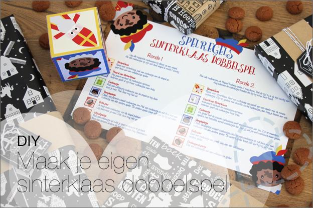 DIY sinterklaas Spel dobbelspel gratis printable