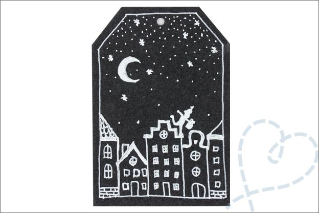 DIY sinterklaas cadeaukaart huisjes tekenen