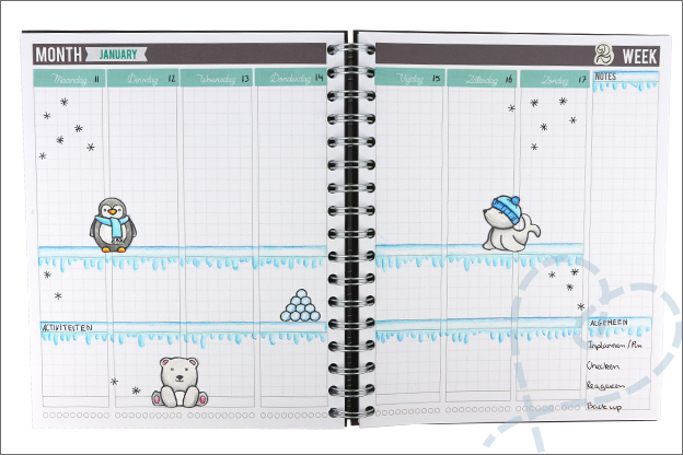 Planner journal thema winter inspiratie