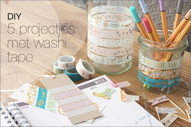 DIY Washi tape ideeen makkelijk budget