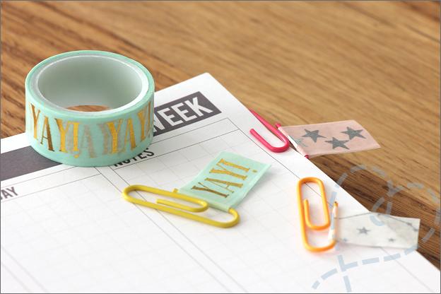 DIY Washi tape paginamarkers paperclip