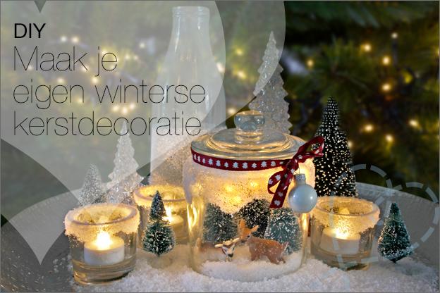 DIY kerstdecoratie maken huis winter poedersneeuw