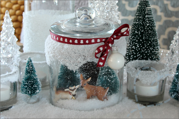 DIY kerstdecoratie stolp landschapje knutselen