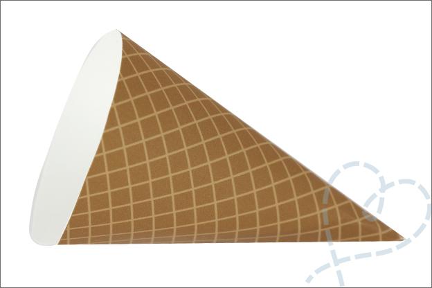 DIY slinger ijsjes patroon hoorntje gratis