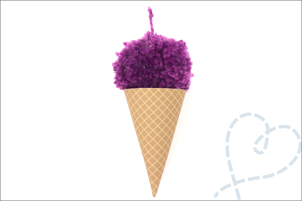 DIY slinger ijsjes tutorial papier garen