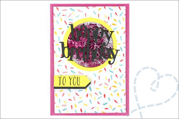 Kaarten maken schudkaart confetti glitter