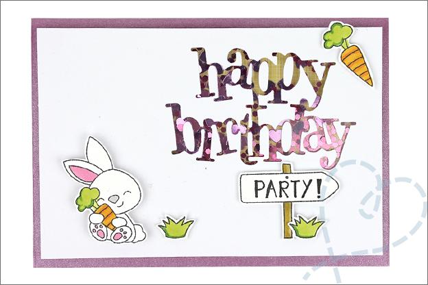 Kaarten maken schudkaart tekst happy birthday