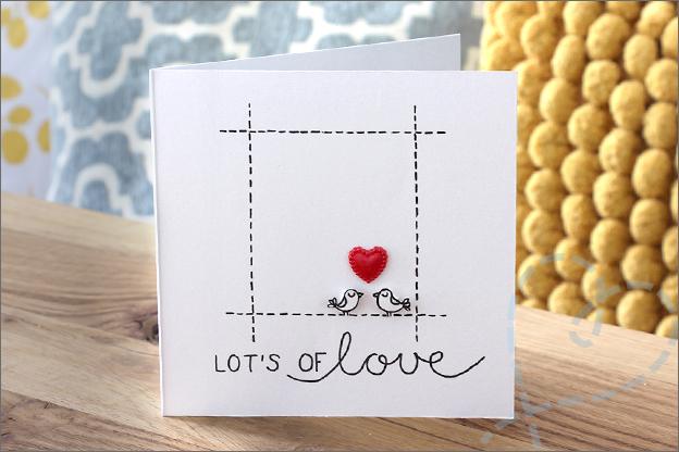 Kaarten maken zelfgemaakte trouwkaart hartjes Action